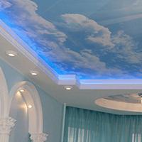 Натяжной потолок со светодиодами