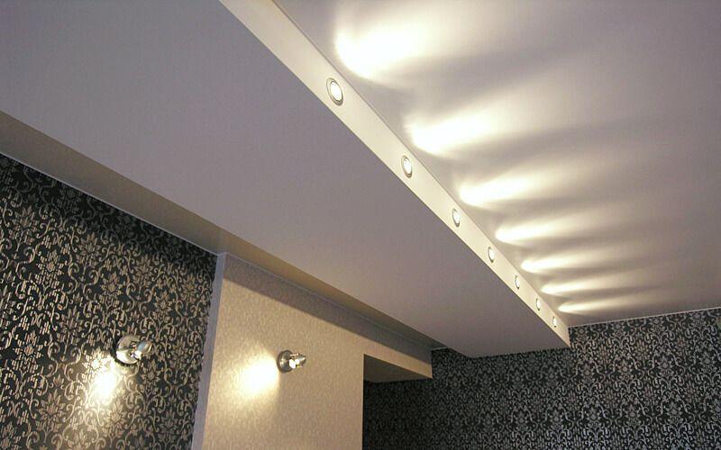 уровневые натяжные потолки