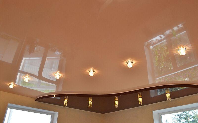 глянцевые натяжные потолки тюмень